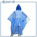 Poncho impreso aduana clara Non-Disposable de la capa de lluvia del PVC