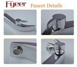 Fyeer hoher Lichtbogen einzelner Handle&Hole Chrom-Badezimmer-Wannen-Wäsche-Bassin-Hahn-Wasser-Mischer-Hahn