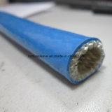 Funda ignífuga de la fibra de vidrio revestida del silicón de la protección termal