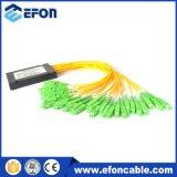 1 * 16 de fibra óptica Splitter Con Sc / APC Connector / Divisor Optico 1 * 8