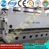 깎는 (k) 기계 CNC 유압 절단기 QC12y 그네 광속 시리즈 4X4000