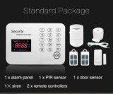 Беспроволочный сигнал тревоги GSM обеспеченностью с кнопочной панелью касания