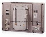 """7 """" алюминиевый монитор LCD держателя камеры IPS 1920X1200 3G-Sdi конструкции"""