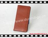 Carteira longa da carteira de couro pura luxuosa do Mens para homens