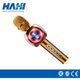 Haut-parleur stéréo de Bluetooth de modèle de Bluetooth Microphoone de microphone sans fil neuf de karaoke avec nous capitaine Shield Smart Microphone