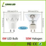 Europe Market GU10 6W Dimmable LED Spot avec Ce RoHS