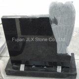 Ангел гранита Shanxi черный с надгробной плитой книги
