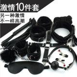 10 parti del sesso dei giocattoli dei prodotti di schiavitù adulta del kit hanno impostato per le donne