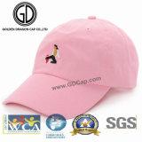 2017 Gorra de béisbol bordada profesional de moda coreana rosada de moda del casquillo del béisbol del bordado