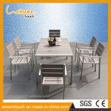 Wasserdichtes rostfestes modernes Vierecks-Hotel-speisende Stuhl-Tisch-gesetzte im Freiengarten-Freizeit-Hauptmöbel