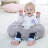 Het ronde Hoofdkussen van de Baby van de Pluche met het Katoen van pp