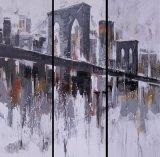 Fabricant de peinture abstraite de l'huile de groupe