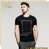 T-shirt de noir d'usine de vêtement d'OEM pour les hommes
