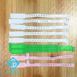 Braceletes / pulseiras ajustáveis para etiqueta de PVC descartáveis para identificação