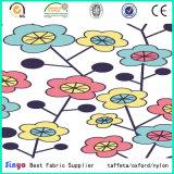 PVCはポリエステル花の熱の花によって印刷されたファブリックに塗った