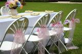Fan-Back Silla al aire libre plegable de plástico para la boda
