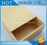 Rectángulo de empaquetado de la insignia de la diapositiva especial de madera natural de encargo del color