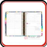 Caixa de presente personalizada Embalagem Gold Wire O Bound Hard Cover Organizer Planner