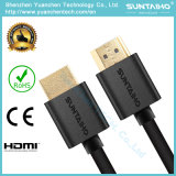 Cable HDMI enchapado en oro enchufable para 1080P con 1.4V