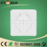 Plástico quadrado claro 170-240V 6W do painel do diodo emissor de luz do projeto novo de Ctorch