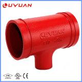 Gli accessori per tubi del fuoco hanno filettato il T di riduttore con approvazione di UL/Ulc