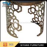 Vector de extremo escandinavo del soporte de flor del vector de la cara del oro de los muebles ocasionales