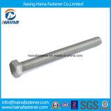 Acciaio inossidabile di DIN933 DIN931/bulloni lunghi Hex del bullone della testa di esagono placcati zinco