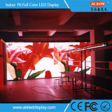 SMD P6mm Color Eventos Alquiler de Panel de pantalla LED para interiores con peso ligero