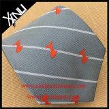 Encargo para hombre 100% seda tejida corbata con el logotipo