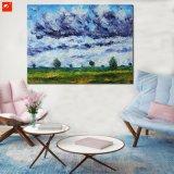 印象主義のMonetの田舎景色の景色の眺めの油絵
