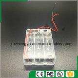 3AA effacent le support de batterie avec les fils, la couverture et commutateur rouges/noirs de fil