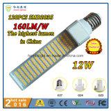 160lm/W 270 lampe rotative d'AP du G-24 de degré 15W DEL avec 3 ans de garantie