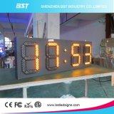 온도 전시 88:88를 가진 옥외 엄청나게 큰 높은 광도 방수 LED 시간 표시