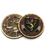 Moneda vieja del metal del dragón del recuerdo de encargo de la dimensión de una variable