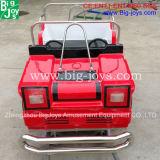 屋外の遊園地装置の小型シャトルは乗る(DJ97980)