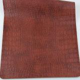 2017 couros gravados elegantes de Upholstery do PVC do plutônio para o saco