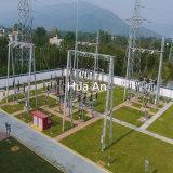 Hot Dip Gegalvaniseerde Zelfondersteunings-Ijzervernietiger Substation Elektrische Transmissieleiding