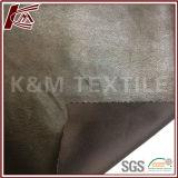 Polyesterbrown-helles Veloursleder-Gewebe 100%