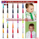 Enfants Garçons Enfants Solid Plain Satin Elastic Neck Tie Necktie Wedding Party (B8062)