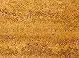 Panneau en pierre desserré par nid d'abeilles en aluminium jaune de Limstone d'or pour le mur