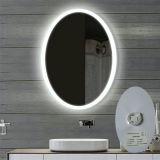 Miroir fait sur commande allumé par hôtel moderne lumineux d'OEM de miroir de salle de bains