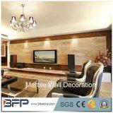 Rivestimento di marmo bianco personalizzato della parete del marmo del drago della parete di pietra/nastro di disegno