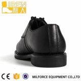 2017 sapatas do uniforme da polícia dos homens negros da forma