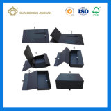 Qualitäts-voll schwarze magnetische Schliessen-steife Pappfaltbares Kasten-Verpacken (Ebene gepackt)