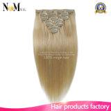 Farben-Klipp-dem Haar in der Webart-Platin-blondes Haar-Extensions-nähen 613