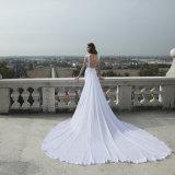 레이스 신부 드레스 투명한 뒤 결혼 예복 (꿈 100102)