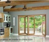 Portello di piegatura, portello di piegatura di legno, finestra di vetro piegante di alluminio di Frameless