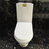 Golden dragon sol en céramique monté une pièce de toilette bon marché