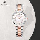 Relógio luxuoso 71113 do espaço livre cheio novo do estilo ocasional das mulheres do relógio do suíço da safira do aço inoxidável