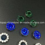 Heißer verkaufen7mm KristallRhinestone beim Nähen auf Strass mit Greifer-EinstellungRhinestone (TP-7mm aller Montana-runde Kristall)